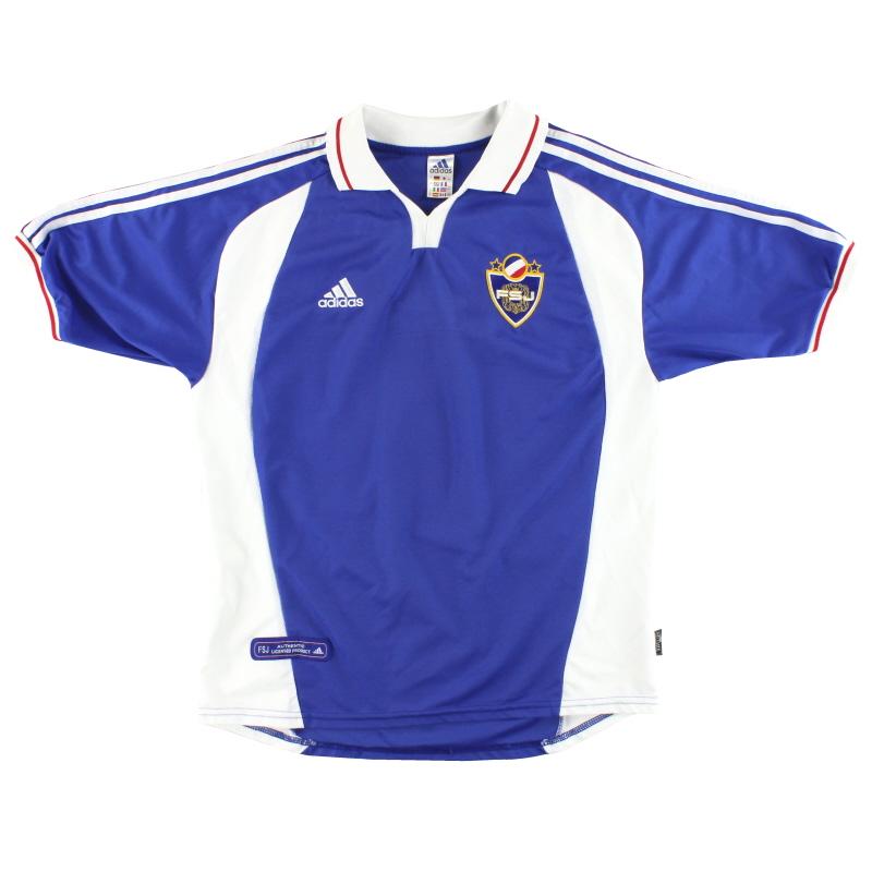 2000-01 Yugoslavia adidas Home Shirt L - 647930