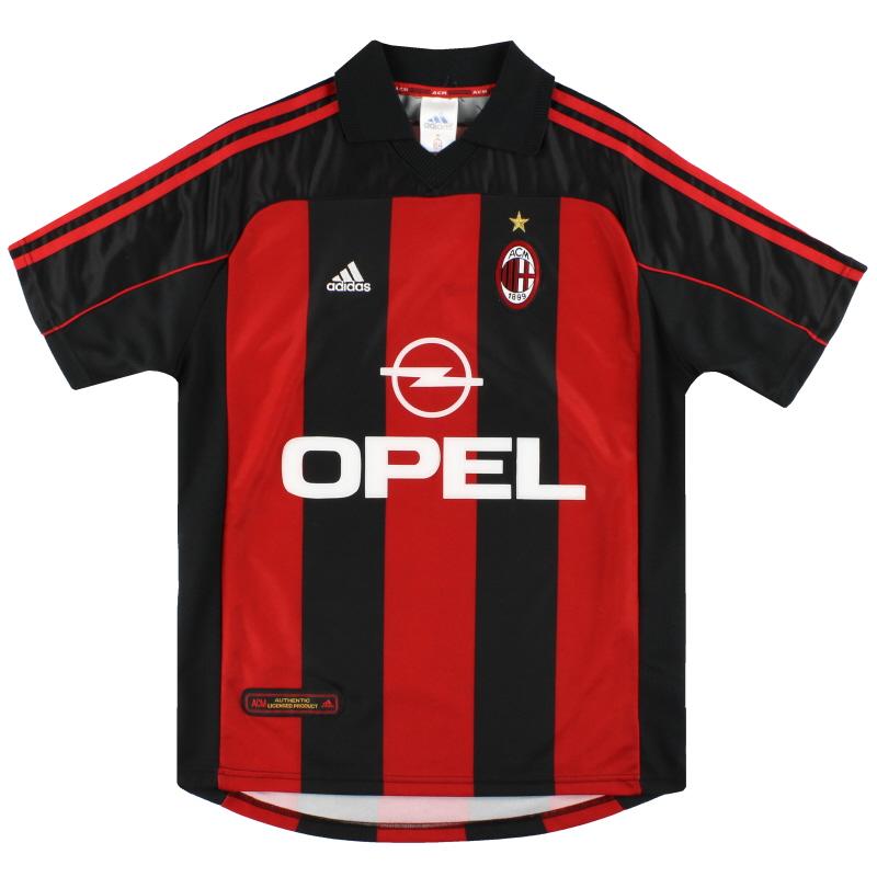 2000-02 AC Milan adidas Home Shirt *Mint* Y - 685348