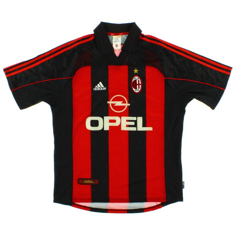 2000-02 AC Milan Home Shirt Y