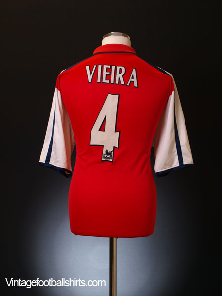 56b3c7e15a5 2000-02 Arsenal Home Shirt Viera  4 XL for sale