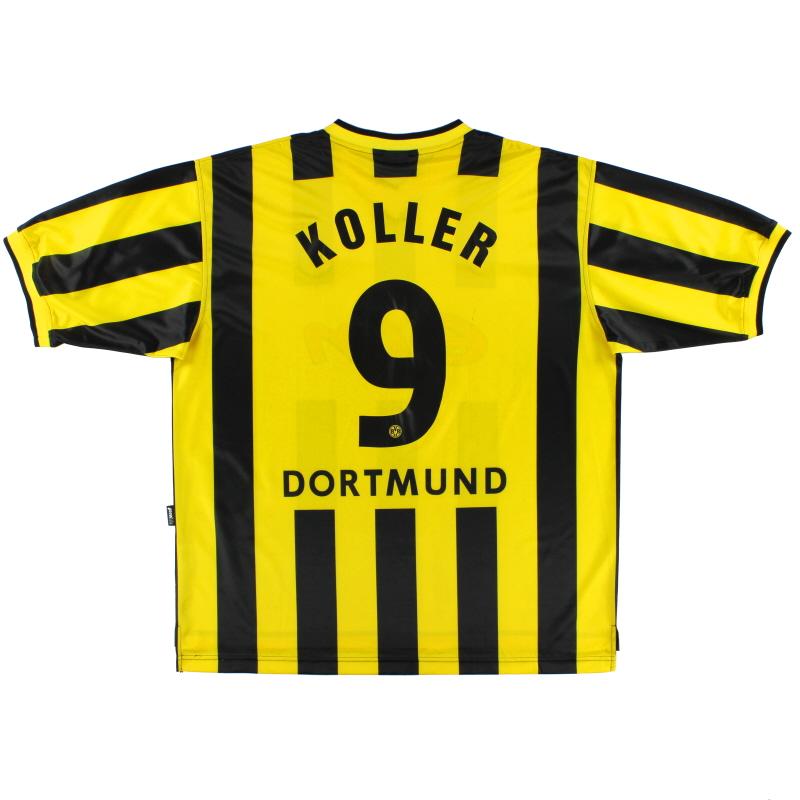 2000-02 Borussia Dortmund Home Shirt Koller #9 XXL