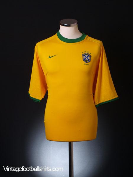 2000-02 Brazil Home Shirt M