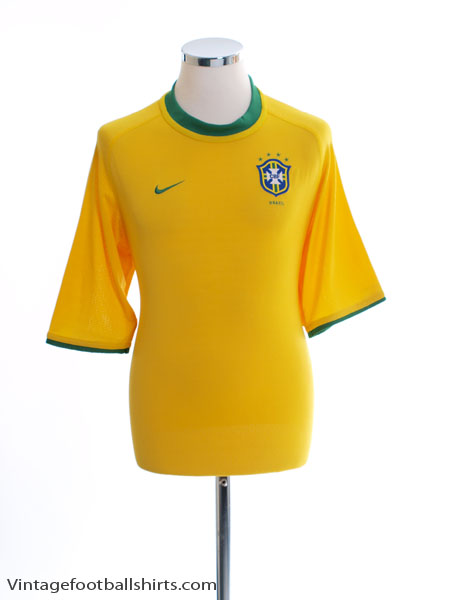 2000-02 Brazil Home Shirt L