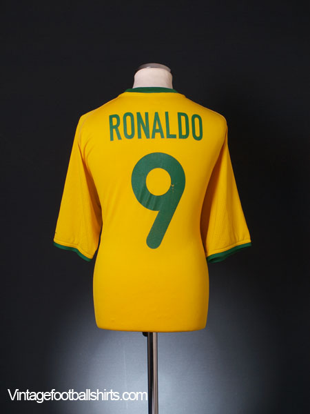 2000-02 Brazil Home Shirt Ronaldo #9 XL