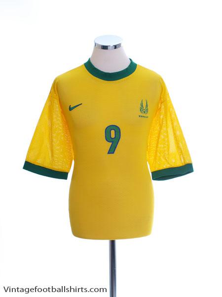 2000-02 Brazil T-Shirt Ronaldo #9 XL