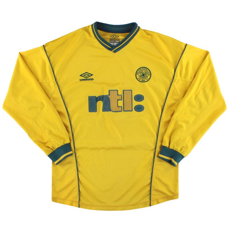 T-Shirts 2000-02 Celtic Umbro Away Shirt L/S M