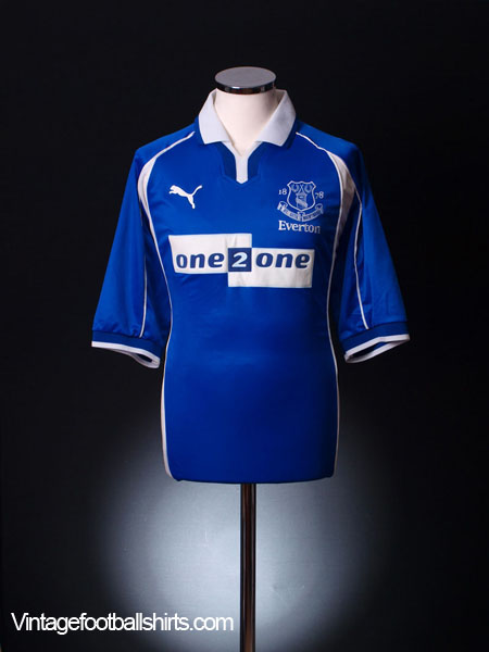 2000-02 Everton Home Shirt XL.Boys