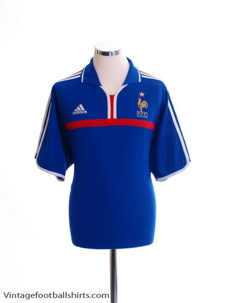 2000-02 France Home Shirt L