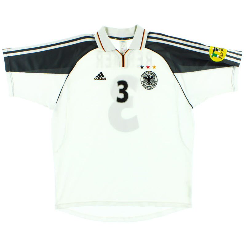 2000-02 Germany Match Issue Home Shirt Rehmer #3 XL - 646530
