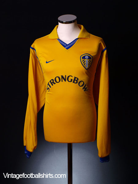 2000-02 Leeds Away Shirt L/S  XL