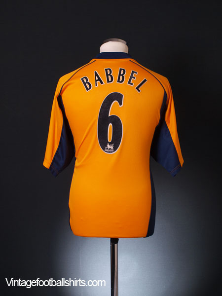 2000-02 Liverpool Away Shirt Babbel #6 M