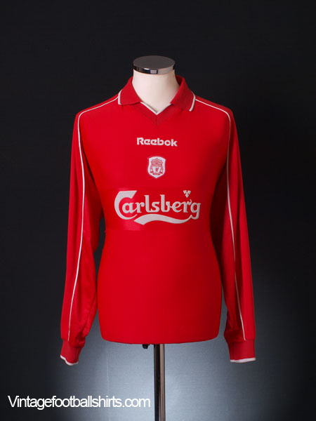 2000-02 Liverpool Home Shirt L/S L