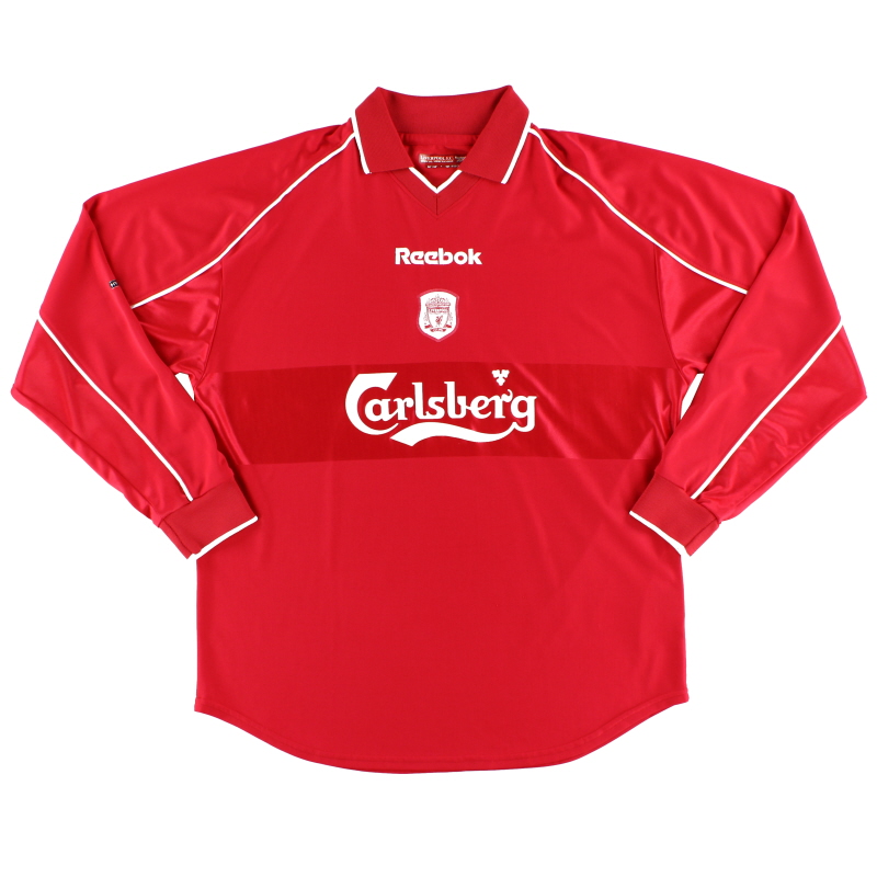 2000-02 Liverpool Home Shirt L/S *As New* L