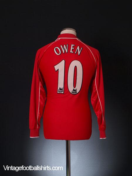 2000-02 Liverpool Home Shirt Owen #10 *Mint* L/S S