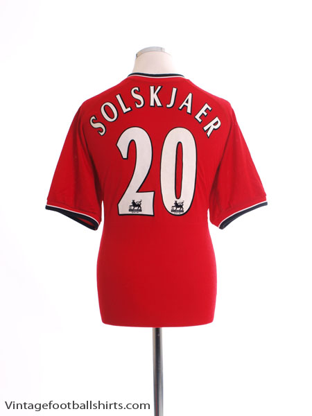 2000-02 Manchester United Home Shirt Solskjaer #20 M