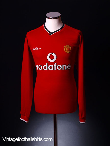 2000-02 Manchester United Home Shirt L/S XL