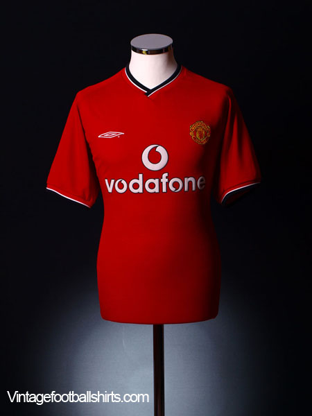 2000-02 Manchester United Home Shirt L.Boys