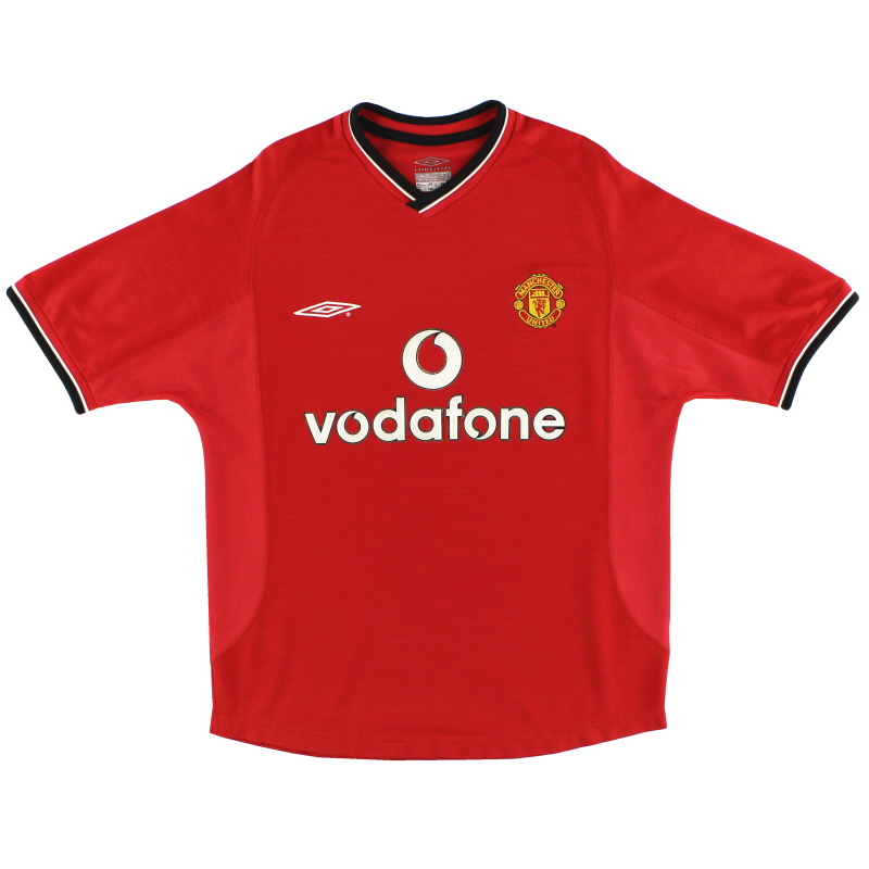 2000-02 Manchester United Umbro Home Shirt M