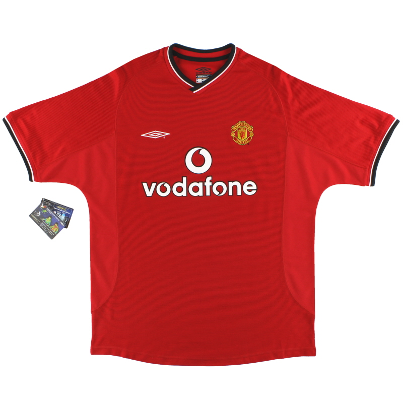 2000-02 Manchester United Umbro Home Shirt *w/tags* L - 735528