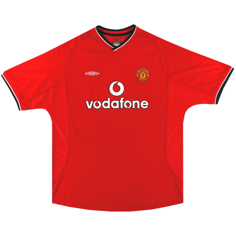 2000-02 Manchester United Umbro Home Shirt L - 735528