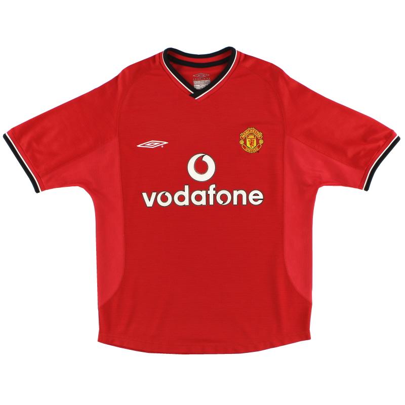 2000-02 Manchester United Umbro Home Shirt L - 735528