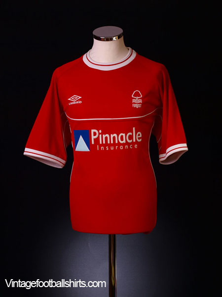 2000-02 Nottingham Forest Home Shirt *As New* Prutton #7 L