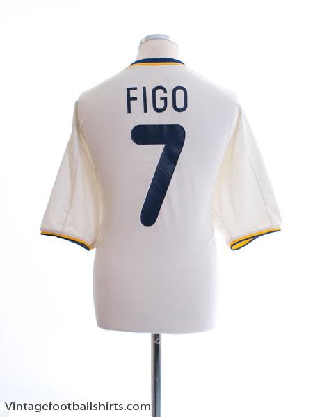 2000-02 Portugal Home Shirt Figo #7 XL