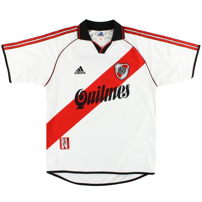 2000-02 River Plate adidas Home Shirt L