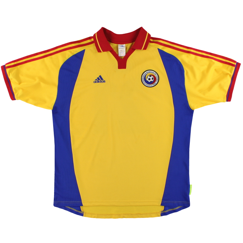 2000-02 Romania adidas Player Issue Home Shirt #21 XL - 647075