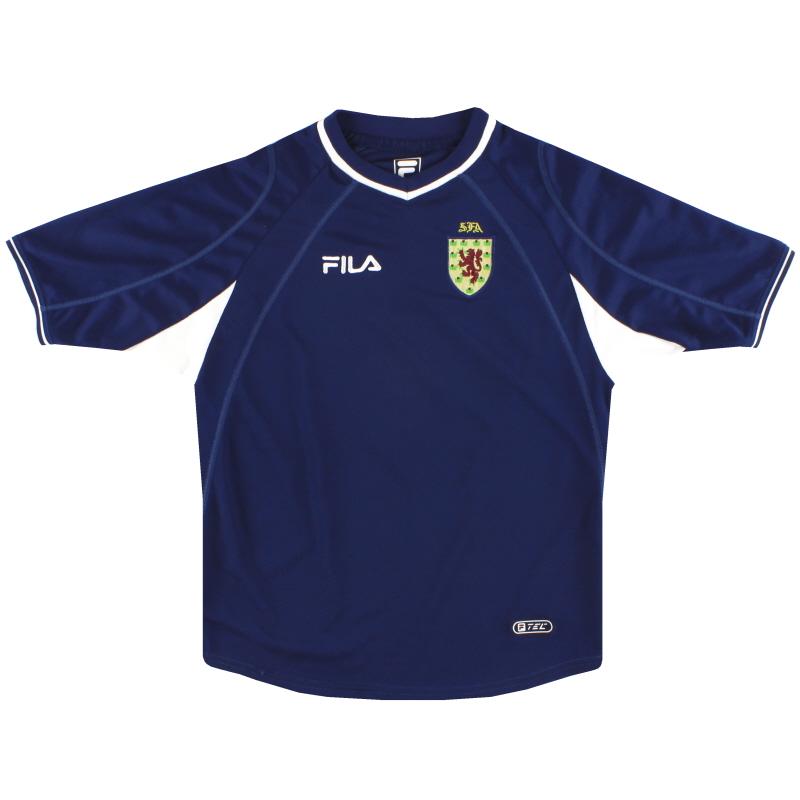 2000-02 Scotland Fila Home Shirt L.Boys