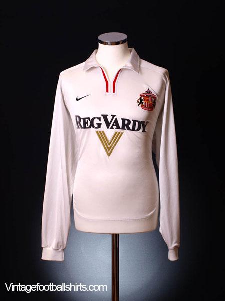 2000-02 Sunderland Away Shirt L/S L