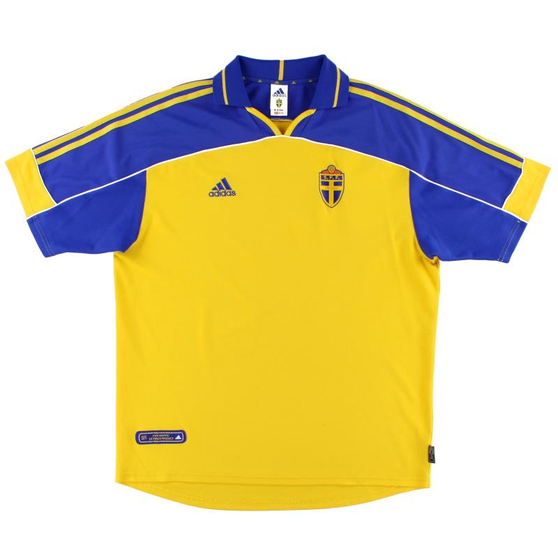 2000-02 Sweden adidas Home Shirt L