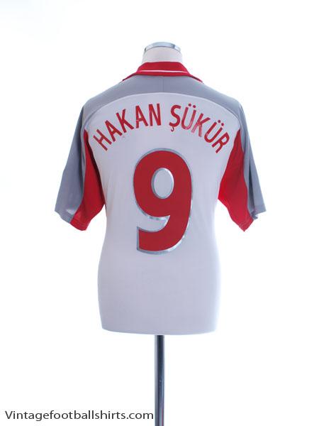 2000-02 Turkey Away Shirt Hakan Sukur #9 M - 643829