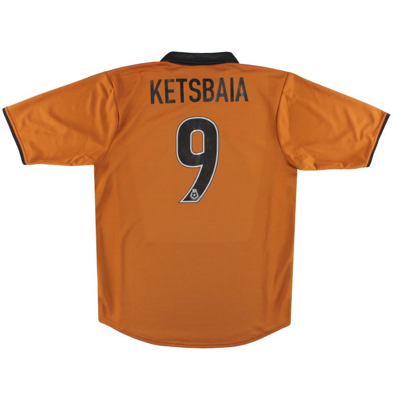 2000-02 Wolves Home Shirt Ketsbaia #9 M