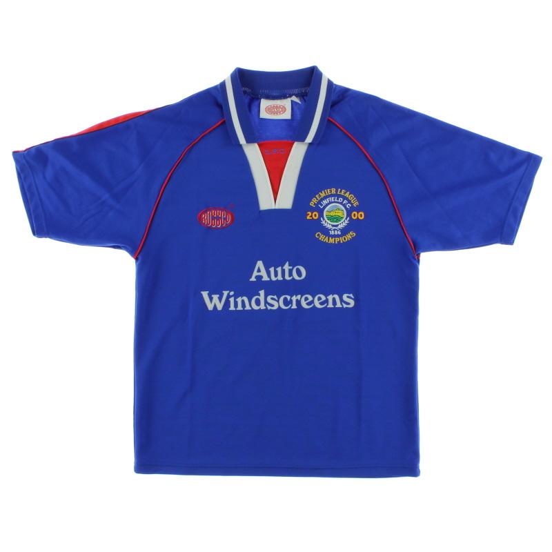 2000 Linfield 'Premier League Champions' Home Shirt S
