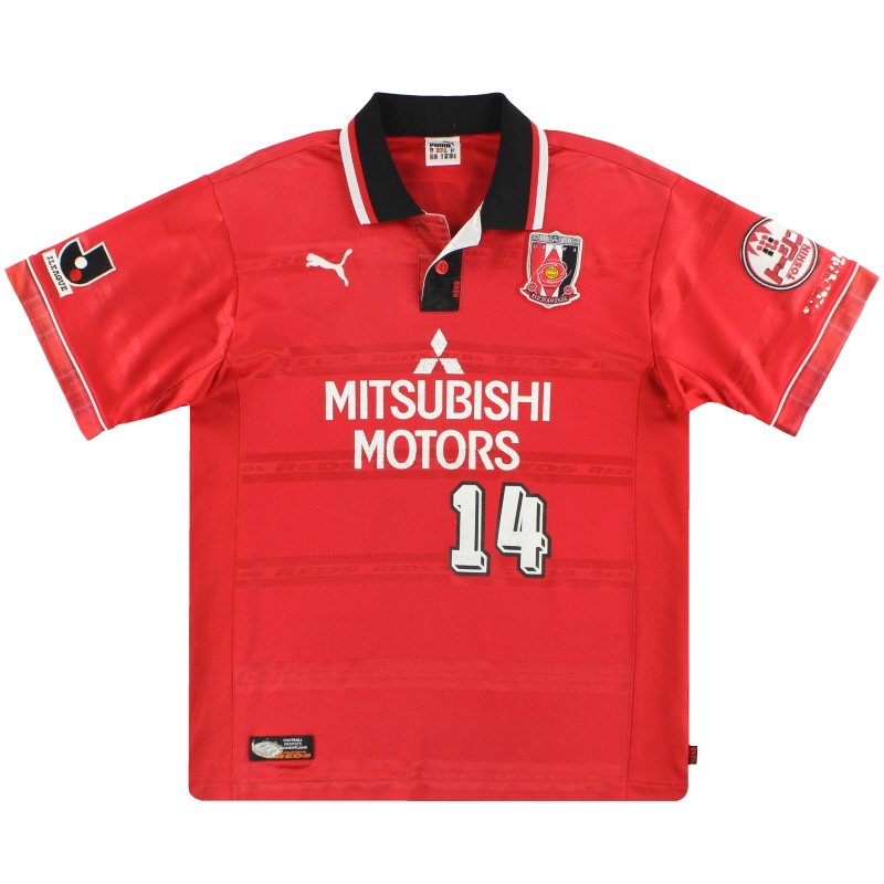 2000 Urawa Red Diamonds Puma Player Issue Home Shirt #14 L