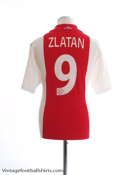 2001-02 Ajax Home Shirt Zlatan #9 L