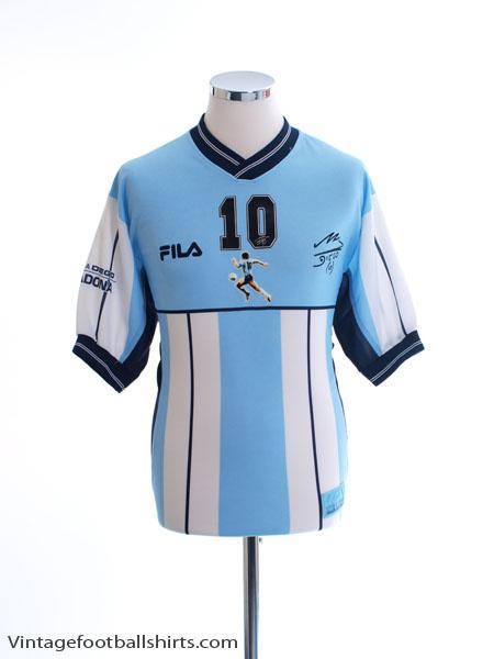 2001-02 Argentina Diego Maradona Testimonial Shirt Maradona #10 S