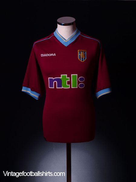 2001-02 Aston Villa Home Shirt L