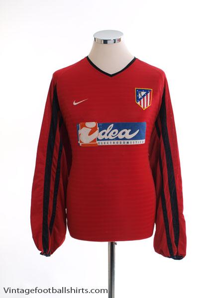 2001-02 Atletico Madrid Away Shirt L/S XL