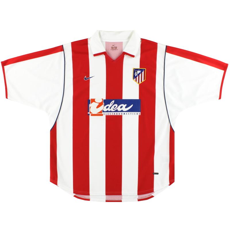 2001-02 Atletico Madrid Nike Home Shirt *Mint* XL