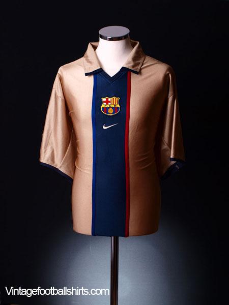 premium selection b24d1 067fb 2001-02 Barcelona Away Shirt S for sale