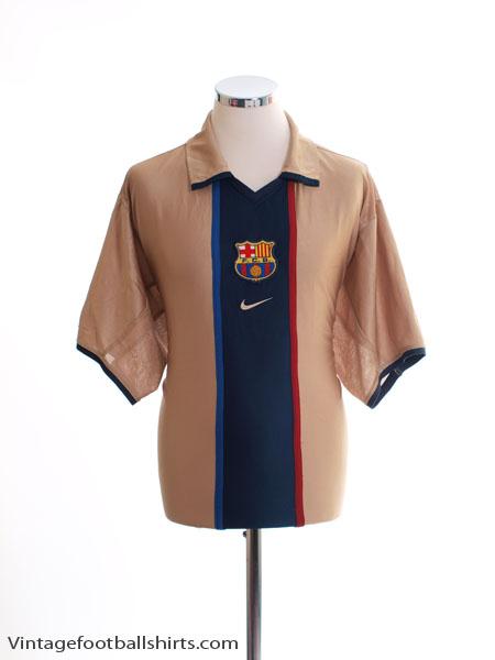 2001-02 Barcelona Away Shirt XXL