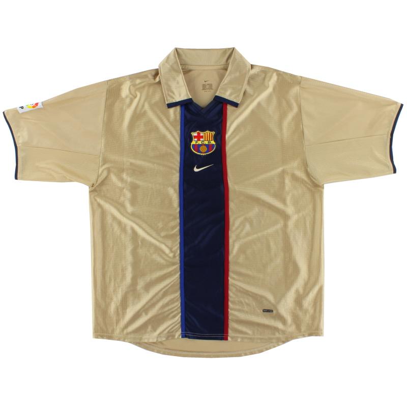 2001-02 Barcelona Nike Away Shirt L