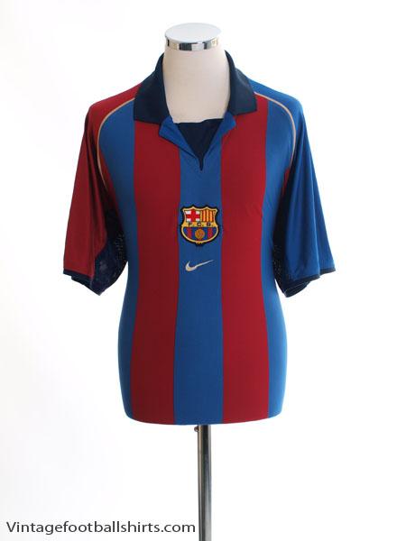 2001-02 Barcelona Home Shirt L