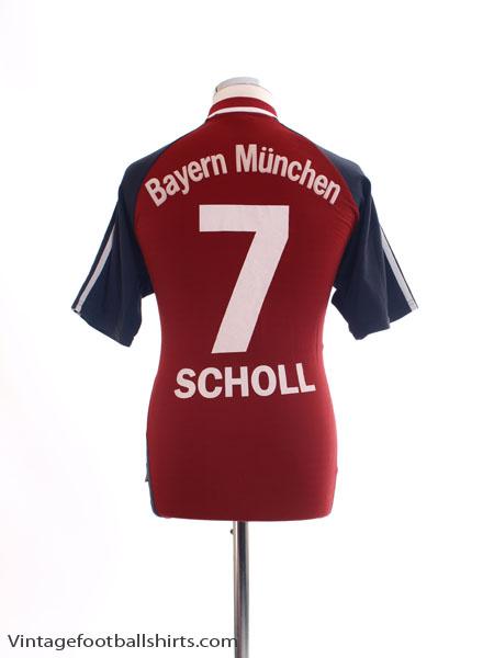 2001-02 Bayern Munich Home Shirt Scholl #7 M