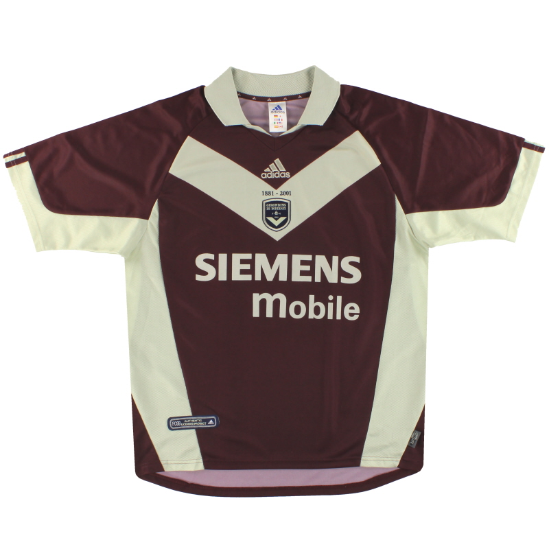2001-02 Bordeaux adidas '120th Anniversary' Third Shirt L - 180941