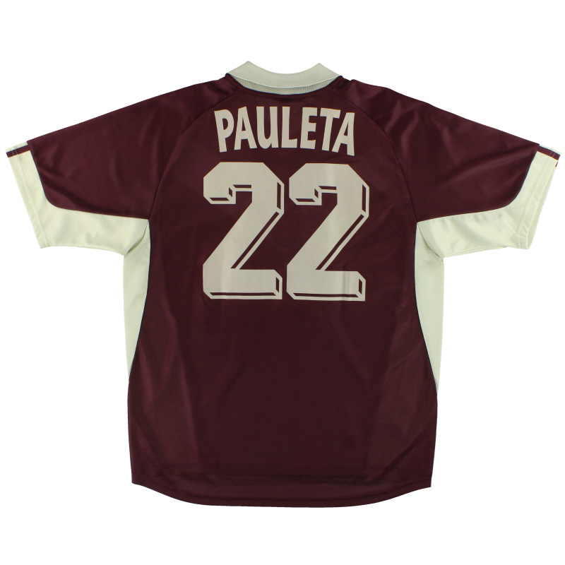 2001-02 Bordeaux adidas Third Shirt Pauleta #22 L