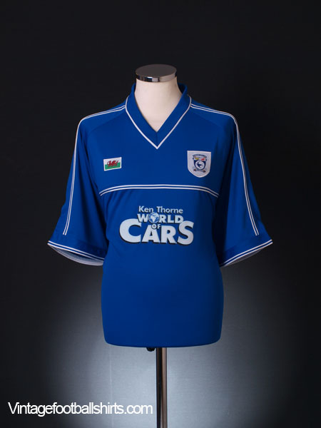 2001-02 Cardiff Home Shirt *Mint* XXL