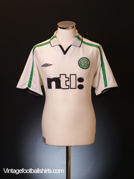 2001-02 Celtic Away Shirt L.Boys